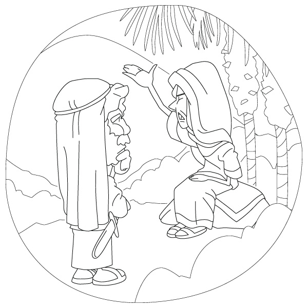 deborah judges bible coloring pages | Christian clipArts.net _ Deborah and Barak