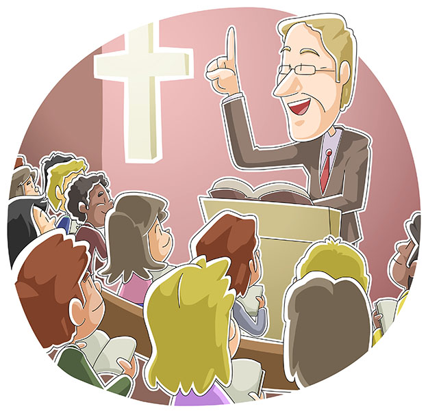 Children at Bible study in large class