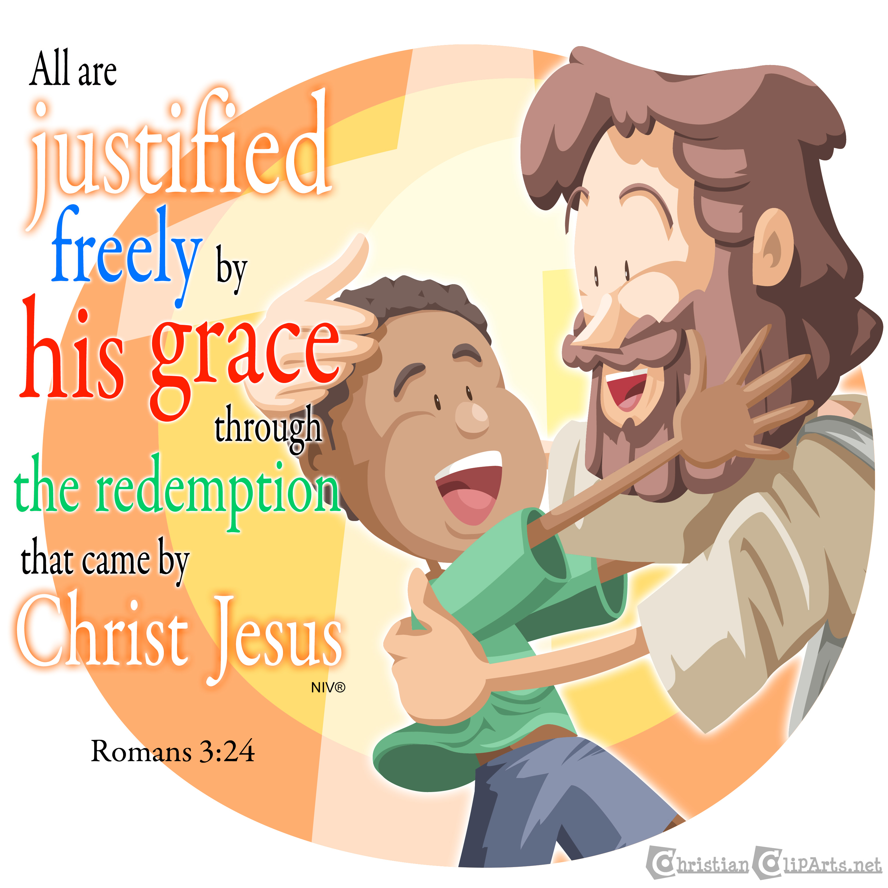 Justified freely by his grace