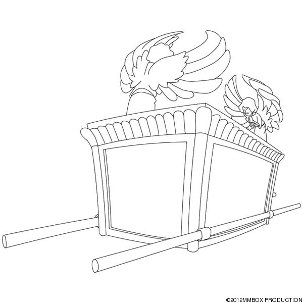 Christian the ark of the covenant for Ark of the covenant coloring page