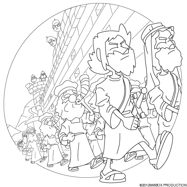 Free Coloring Pages Of For Walls Of Jericho Joshua And The Battle Of Jericho Coloring Page