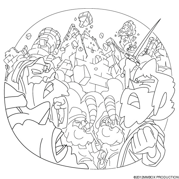 Christian the wall of jericho fell down for Walls of jericho coloring page