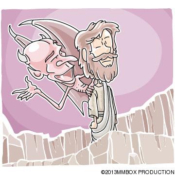Christian clipArts.net _ Devil tempting Jesus
