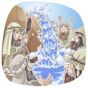 Water from the rock at Horeb